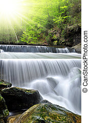 waterfalls - beautiful waterfalls in the Bavarian Forest-...