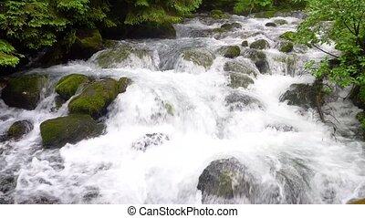 beautiful waterfals in mountains - beautiful waterfals in...