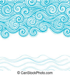 Beautiful waves on the white background