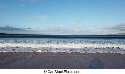 Beautiful waves at Narin Strand in Portnoo, County Donegal - Ireland