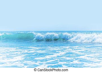 Beautiful waves in sea