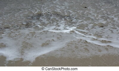 Beautiful waves on the beach
