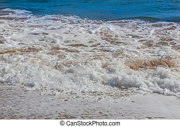 waves on the sea shore