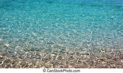 beautiful wavy turquoise beach sea
