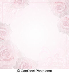 Beautiful wedding  background with  roses and frame