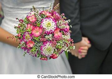 beautiful wedding couple - Detail of hands of wedding couple...