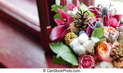 Beautiful wedding decorations with flowers