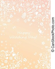 Beautiful wedding floral card