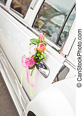 flowers on the car