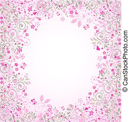 Beautiful wedding greeting card with oriental floral pattern