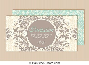 Beautiful wedding invitation card