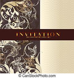 Beautiful wedding invitation  design in elegant style