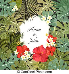 Beautiful wedding invitation save the date ornament. -...