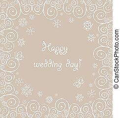 Beautiful wedding lacy greeting