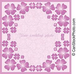 Beautiful wedding  pink frame