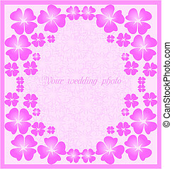 Beautiful wedding  pink frame