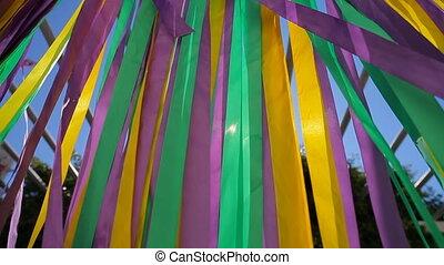 Beautiful wedding ribbons colourful