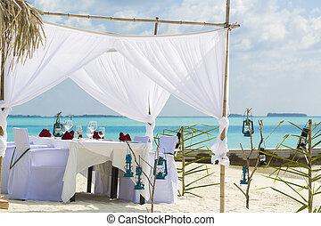 Beautiful Wedding Setup in the Beach