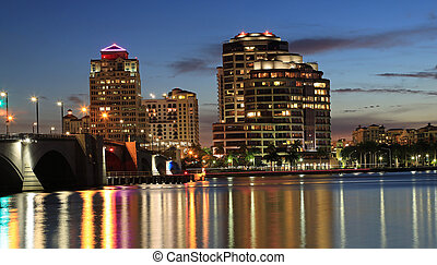West Palm Beach Skyline - Beautiful West Palm Beach Skyline...
