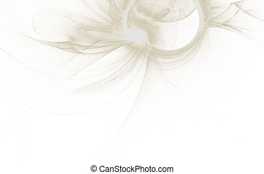 beautiful white abstract fractal background