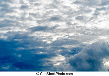 Beautiful white cloud on blue sky background