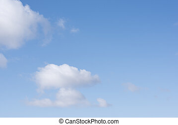 Beautiful white clouds on a blue sky