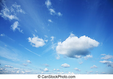 Beautiful white clouds over blue sky