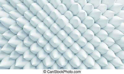 Beautiful White Cones on Surface Morphing in Seamless 3d...