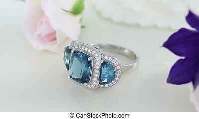 Beautiful White Gold Eternity Ring