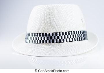 Beautiful white hat isolated on white
