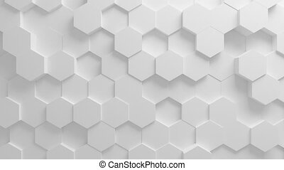 Beautiful White Hexagons on Surface Morphing in Seamless 3d...