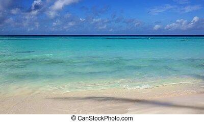Beautiful white sand beach and Caribbean sea.
