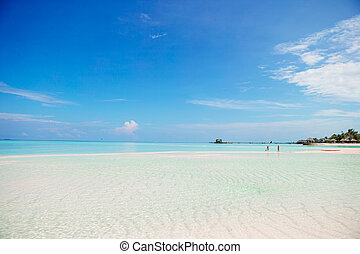 Beautiful white sand beach and turquoise clean water