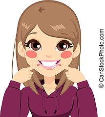 Beautiful White Smile Girl