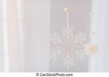 beautiful white snowflake