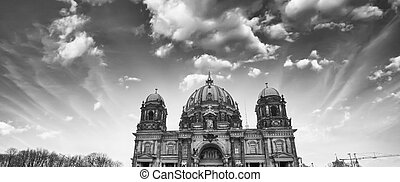 Beautiful wide angle view of Berliner Dom. City Cathedral at sunset, Germany.