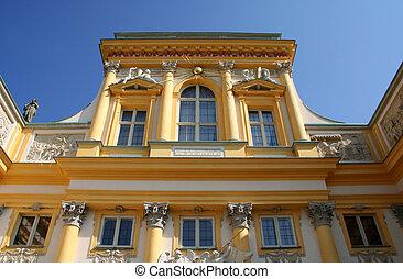 Beautiful Wilanow Palace - Beautiful baroque facade of Royal...
