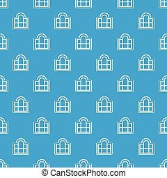 Beautiful window frame pattern vector seamless blue