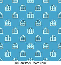 Beautiful window frame pattern vector seamless blue