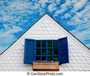 Beautiful windows on old building