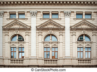 beautiful windows with elements of modeling