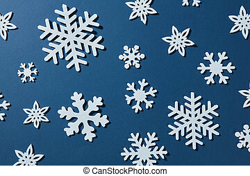 beautiful winter background of snowflakes