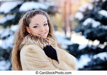 Beautiful winter girl