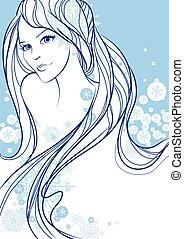 Beautiful winter girl