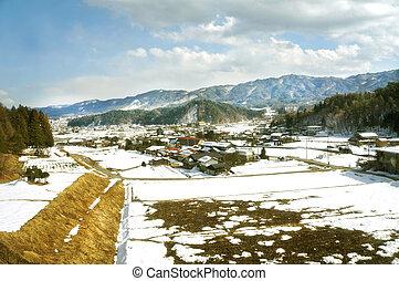 beautiful winter landscape in Japan