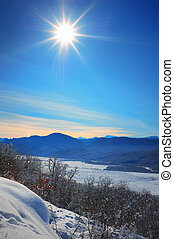 beautiful winter landscape Mountain.