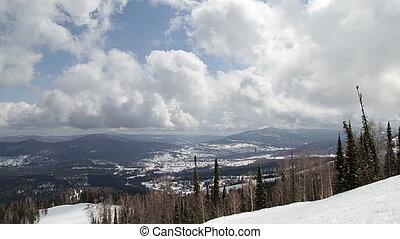 Beautiful winter landscape on mountain