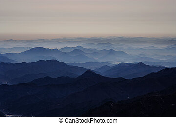 Beautiful winter mountains in south korea, Deogyusan