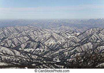 Beautiful winter mountains in south korea, Odaesan