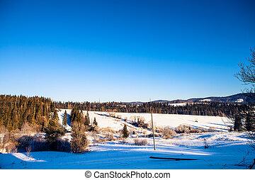 beautiful winter mountains,